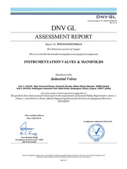 2) PED Assessment Report- Instrumentation Valves _ Manifolds-Signed_page-0001
