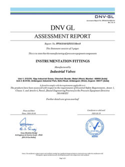 3) PED Assessment Report - Instrumentation Fiittings-Signed_page-0001