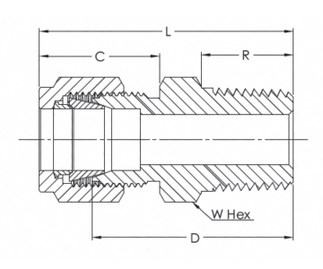 male_connector_Imperial RangeNPT Thread_line_drawing